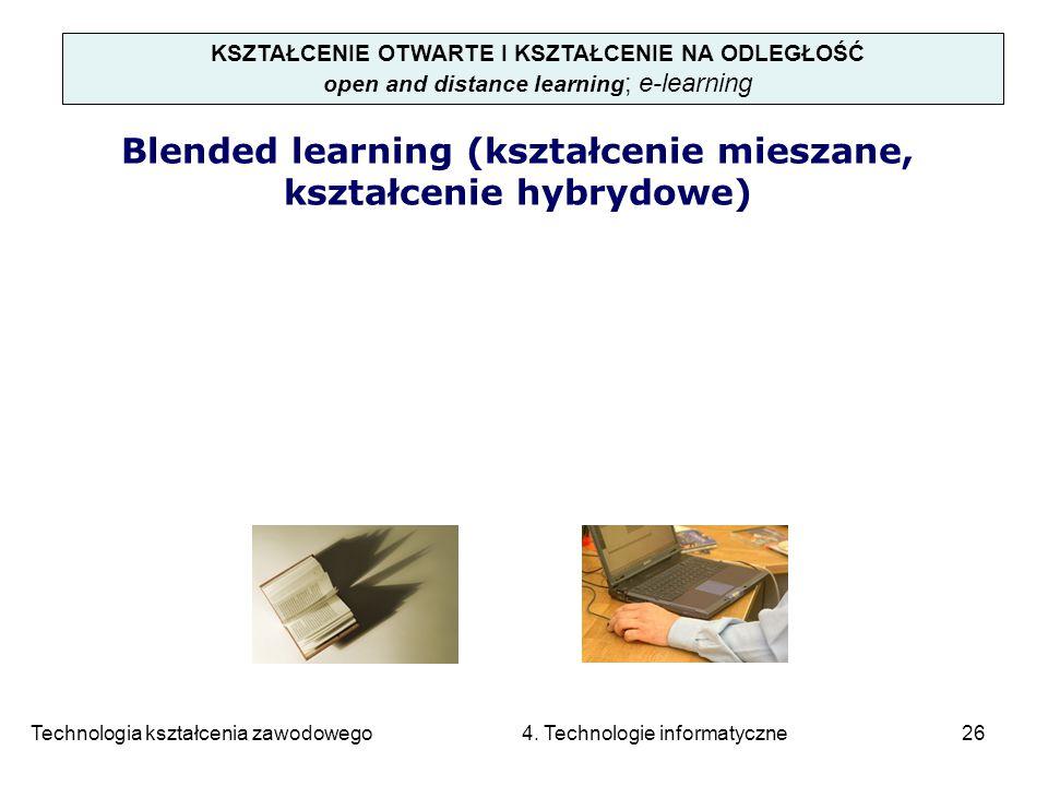 Blended learning (kształcenie mieszane, kształcenie hybrydowe)