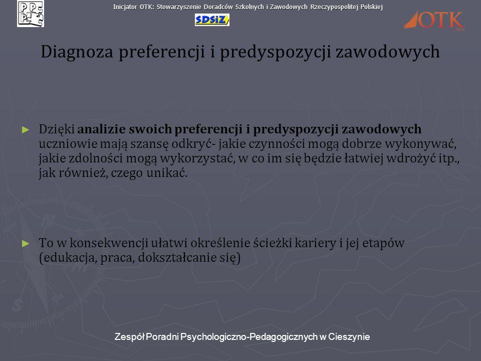 Diagnoza preferencji i predyspozycji zawodowych