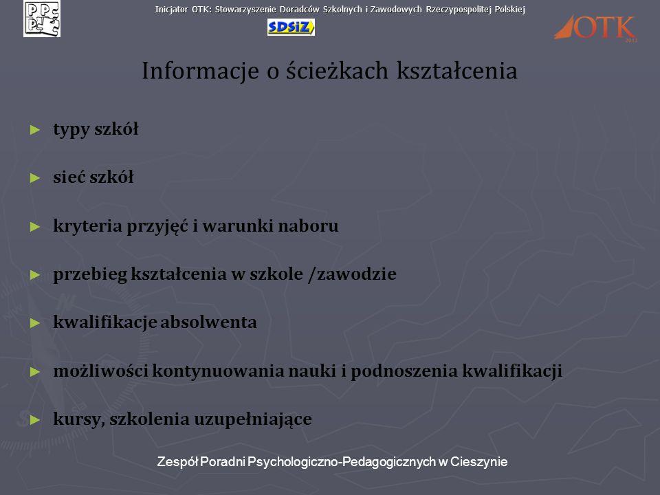 Informacje o ścieżkach kształcenia