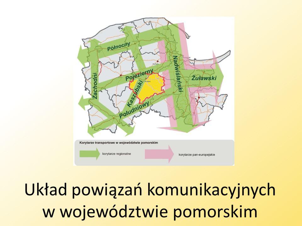 Układ powiązań komunikacyjnych w województwie pomorskim