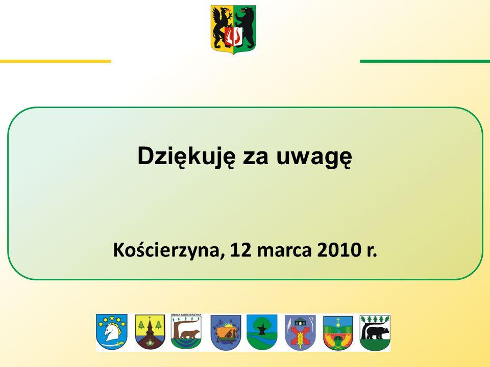 Dziękuję za uwagę Kościerzyna, 12 marca 2010 r.
