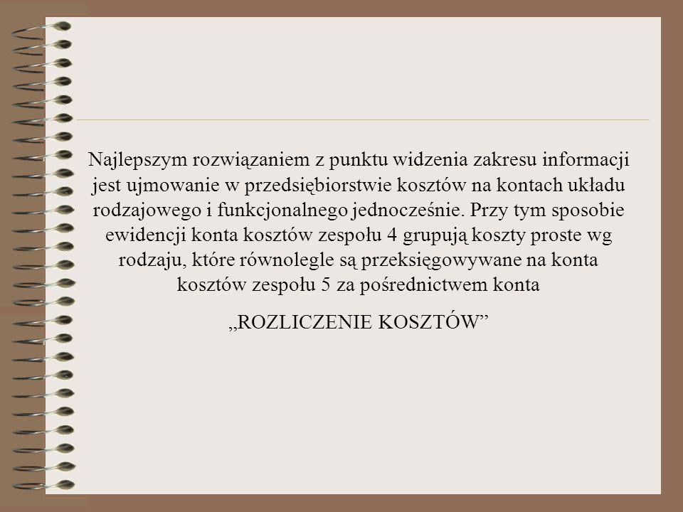 """""""ROZLICZENIE KOSZTÓW"""