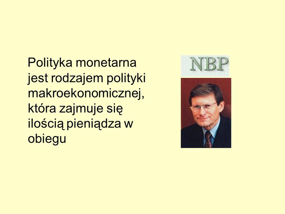Polityka monetarna jest rodzajem polityki makroekonomicznej, która zajmuje się ilością pieniądza w obiegu