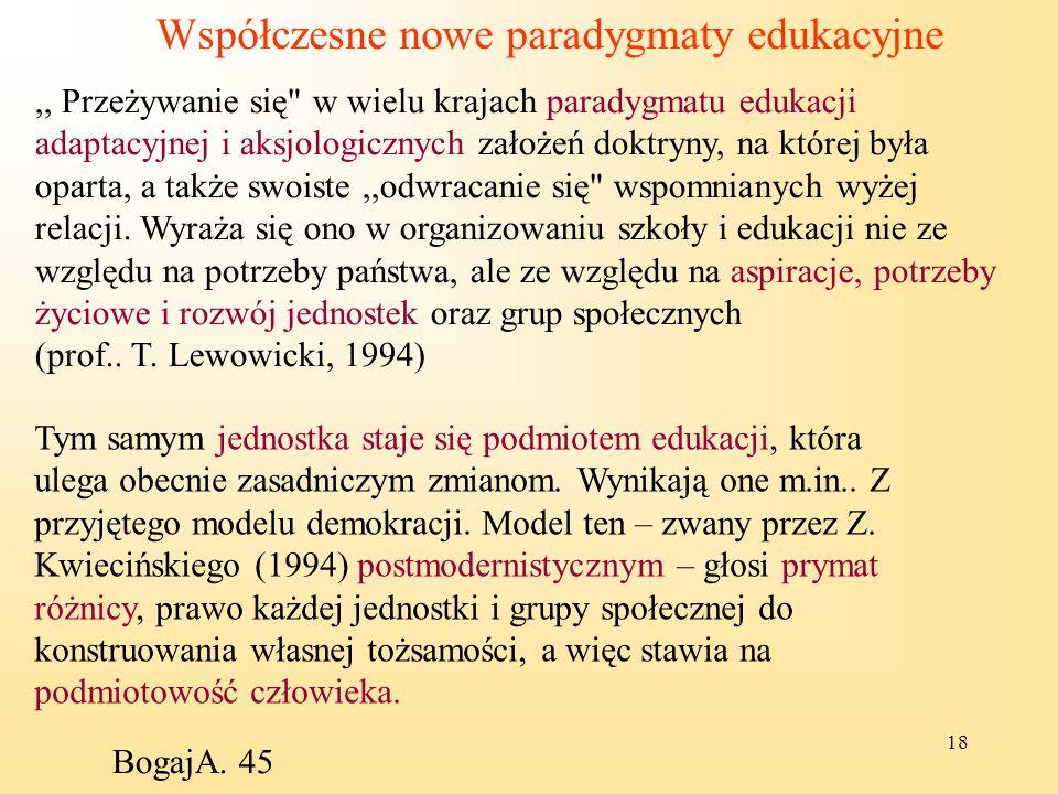 Współczesne nowe paradygmaty edukacyjne