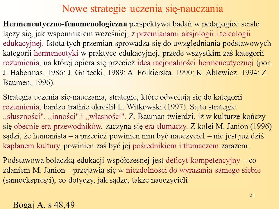 Nowe strategie uczenia się-nauczania