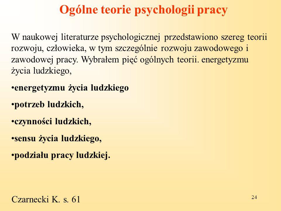 Ogólne teorie psychologii pracy