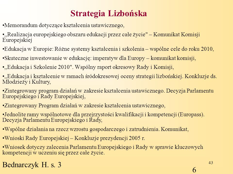 Strategia Lizbońska Bednarczyk H. s. 3 6