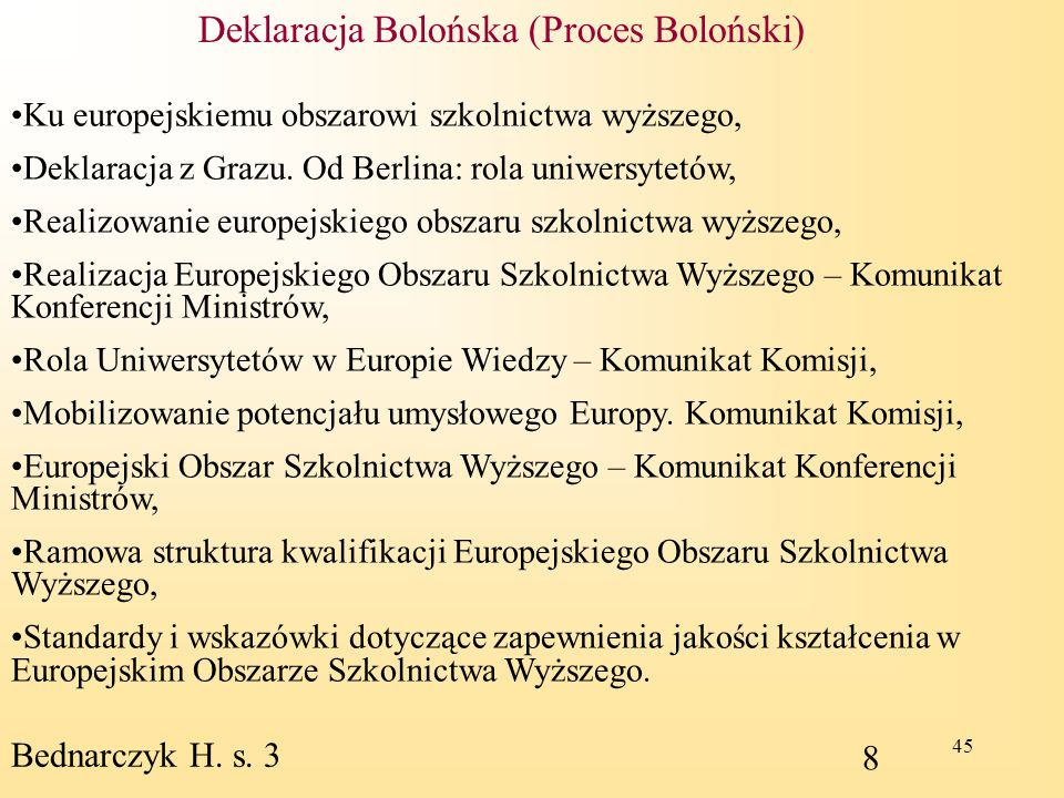 Deklaracja Bolońska (Proces Boloński)