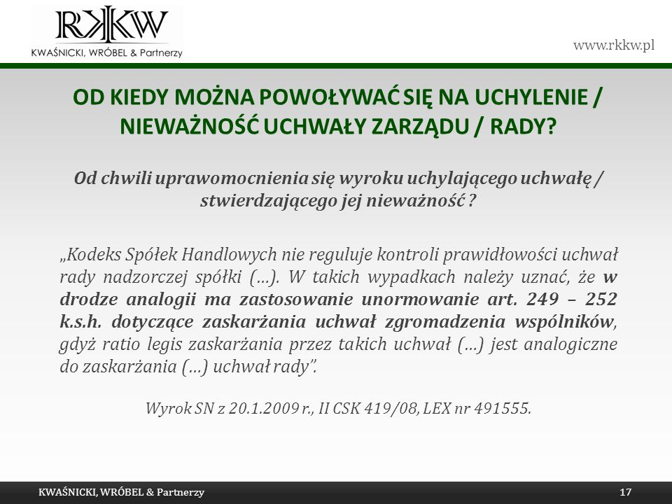 Wyrok SN z 20.1.2009 r., II CSK 419/08, LEX nr 491555.