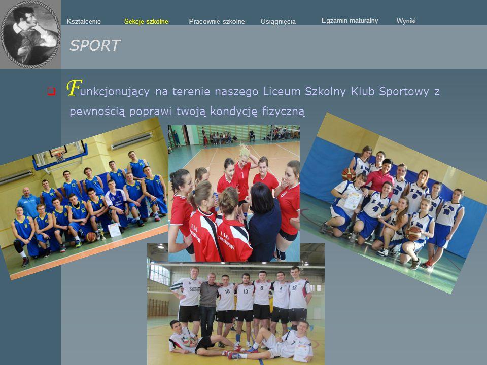 SPORT Funkcjonujący na terenie naszego Liceum Szkolny Klub Sportowy z