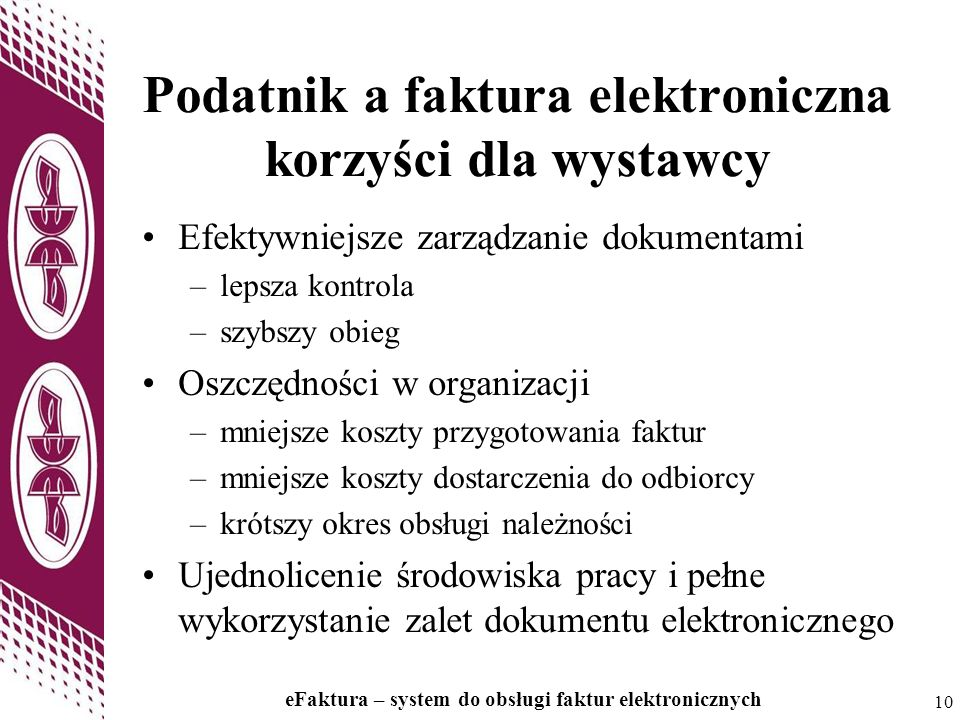 Podatnik a faktura elektroniczna korzyści dla wystawcy