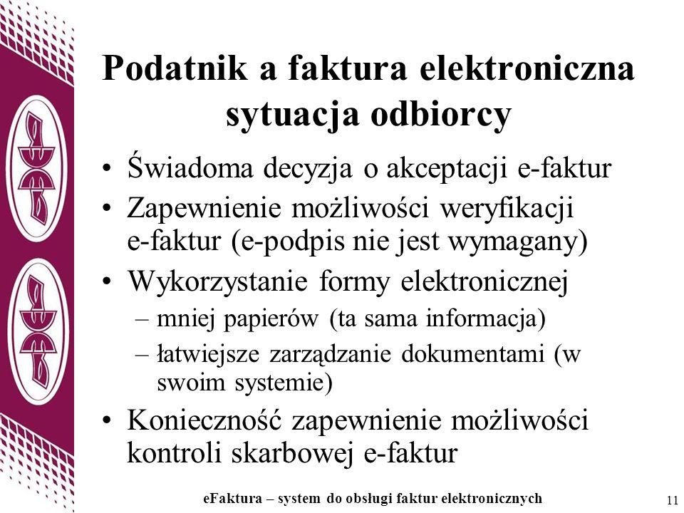 Podatnik a faktura elektroniczna sytuacja odbiorcy