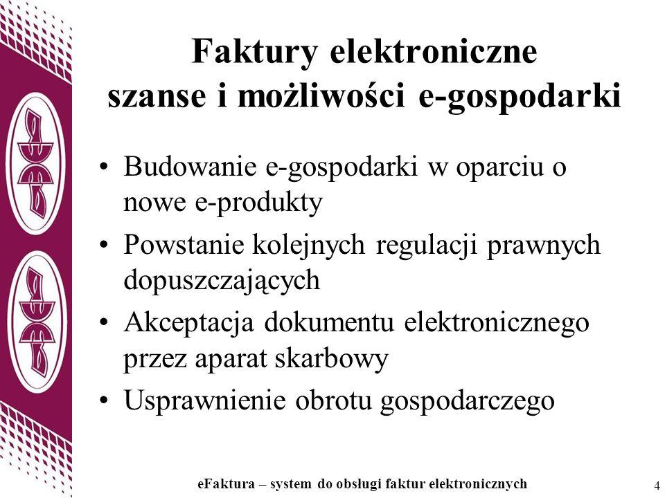 Faktury elektroniczne szanse i możliwości e-gospodarki