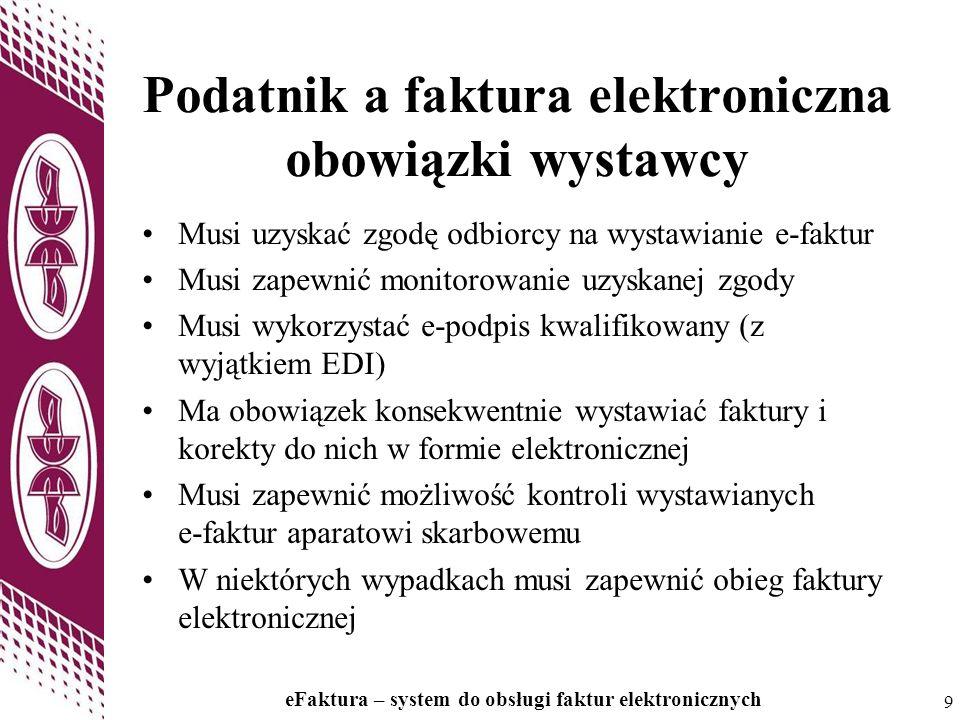 Podatnik a faktura elektroniczna obowiązki wystawcy