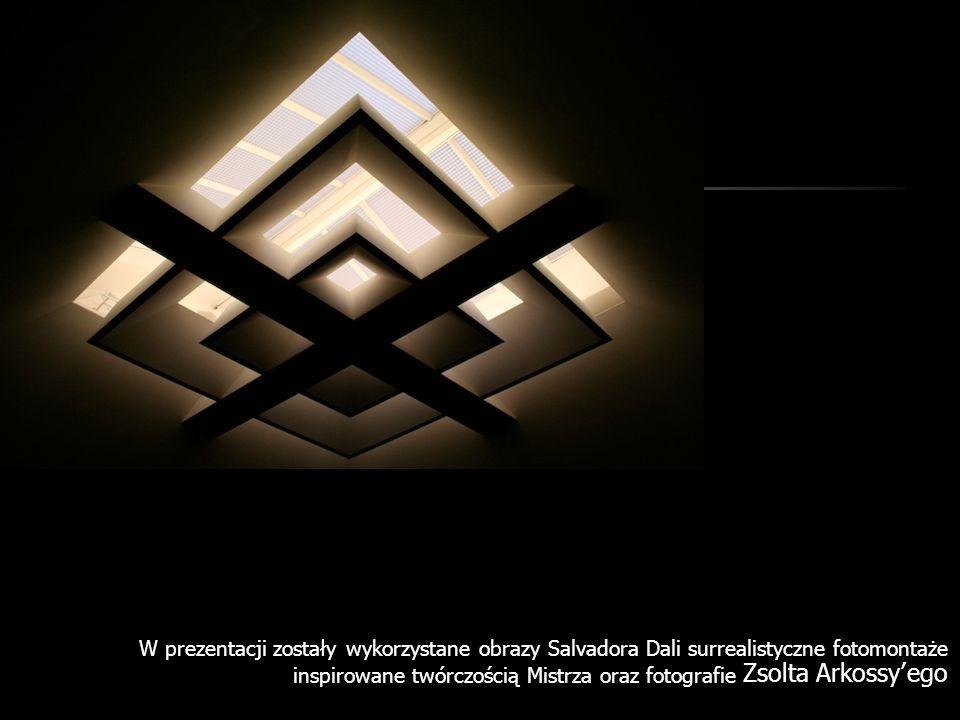 W prezentacji zostały wykorzystane obrazy Salvadora Dali surrealistyczne fotomontaże inspirowane twórczością Mistrza oraz fotografie Zsolta Arkossy'ego