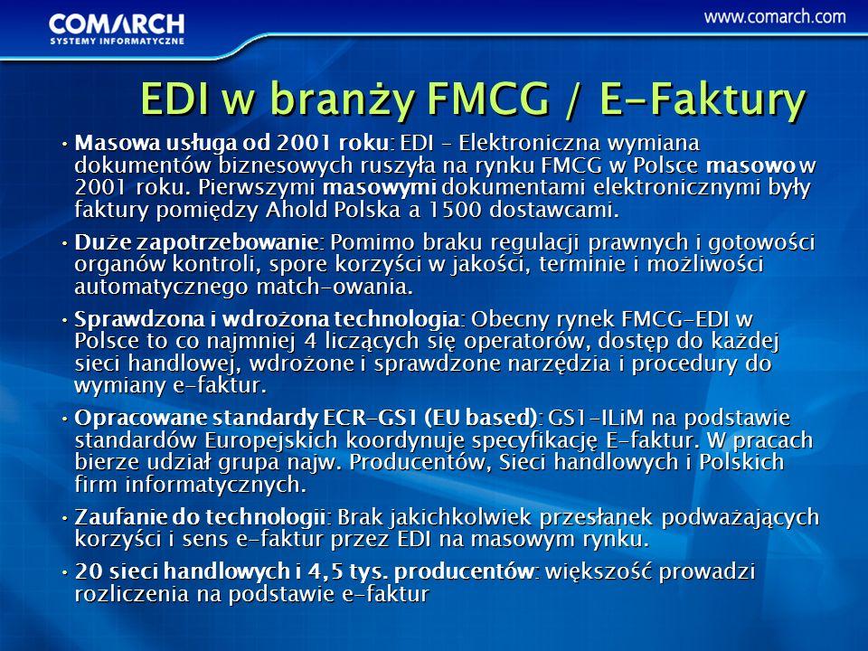 EDI w branży FMCG / E-Faktury