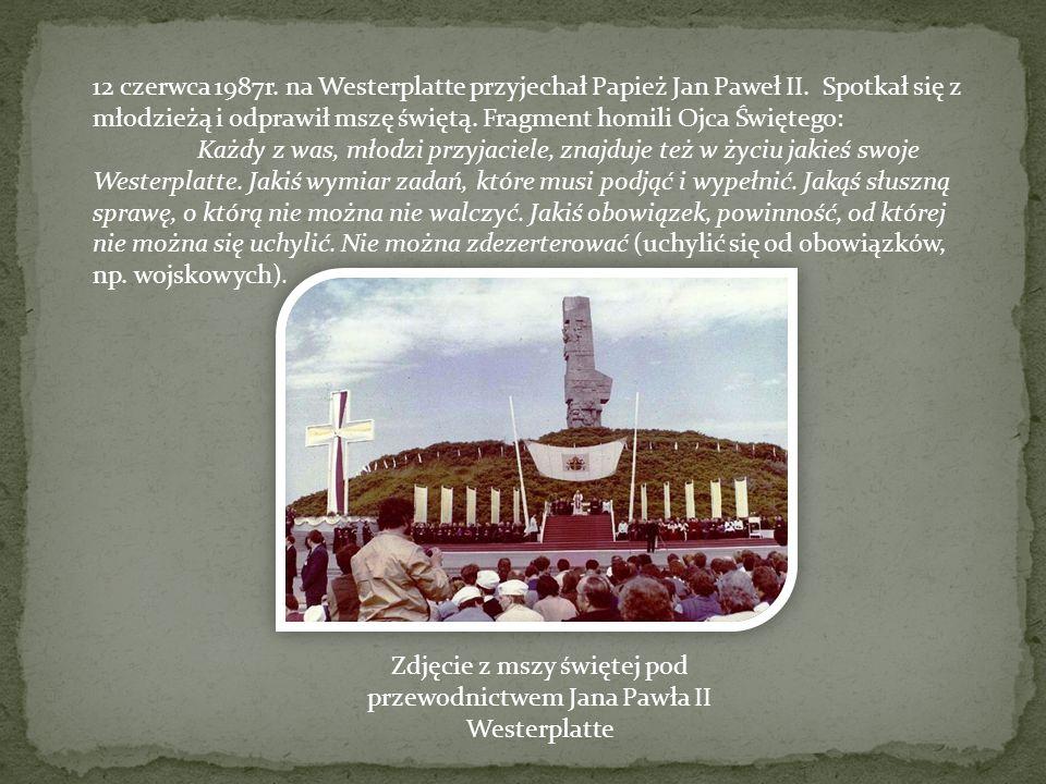 Zdjęcie z mszy świętej pod przewodnictwem Jana Pawła II