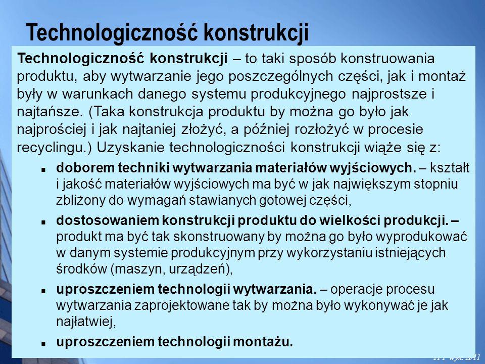 Technologiczność konstrukcji