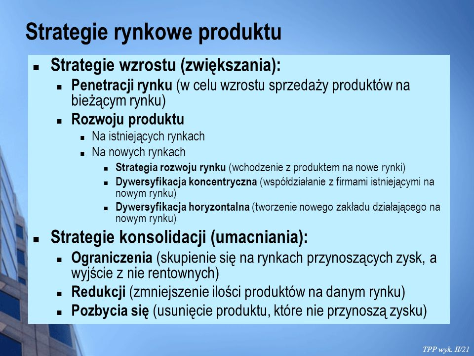 Strategie rynkowe produktu