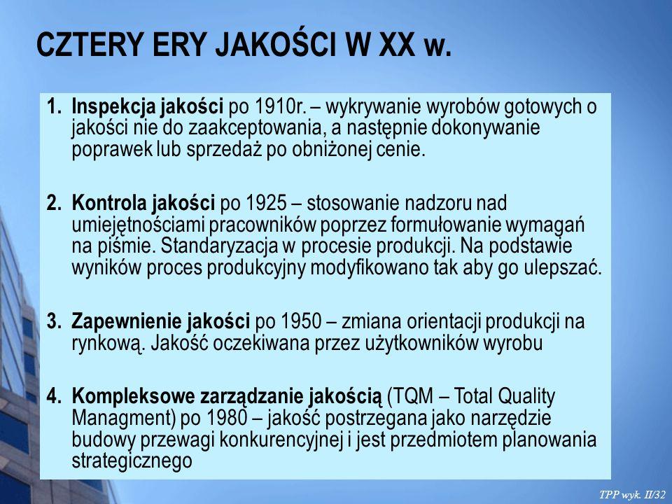 CZTERY ERY JAKOŚCI W XX w.