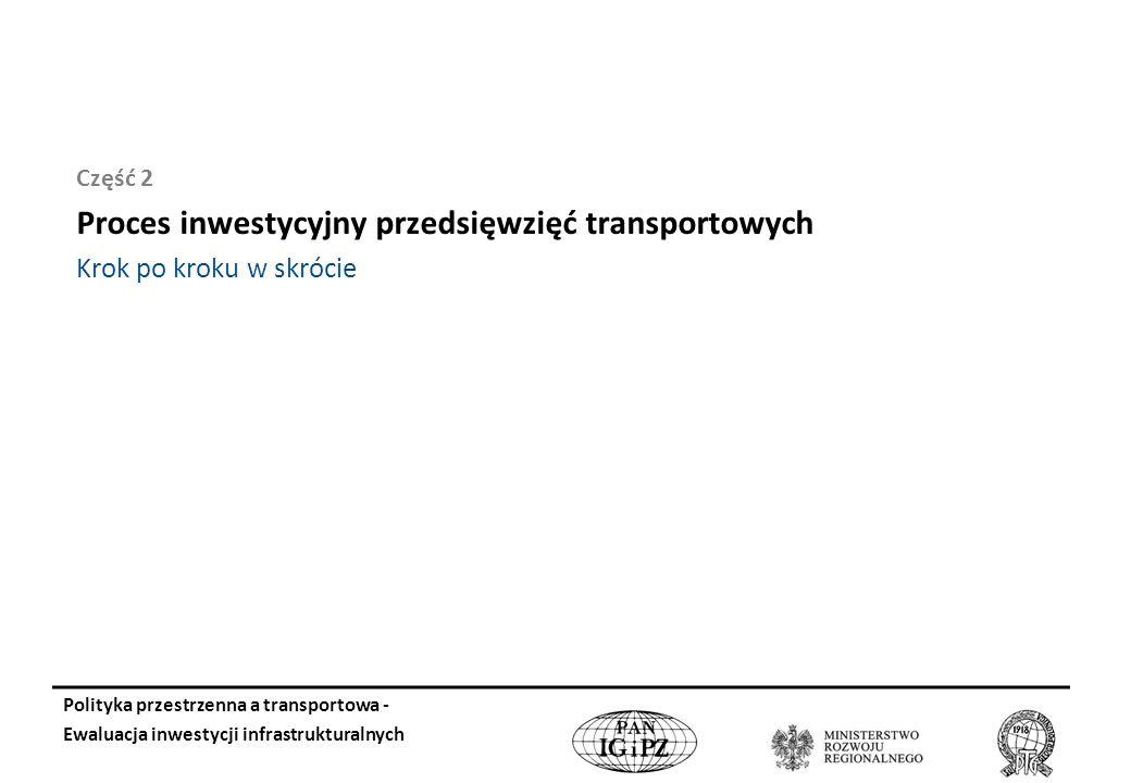 Proces inwestycyjny przedsięwzięć transportowych