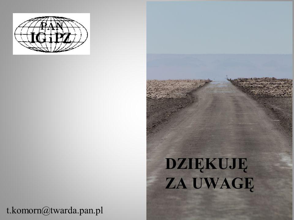 Dziękuję za uwagę t.komorn@twarda.pan.pl