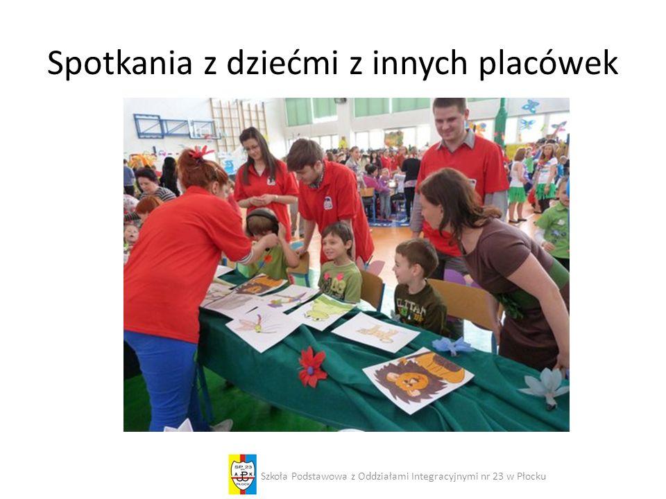 Spotkania z dziećmi z innych placówek