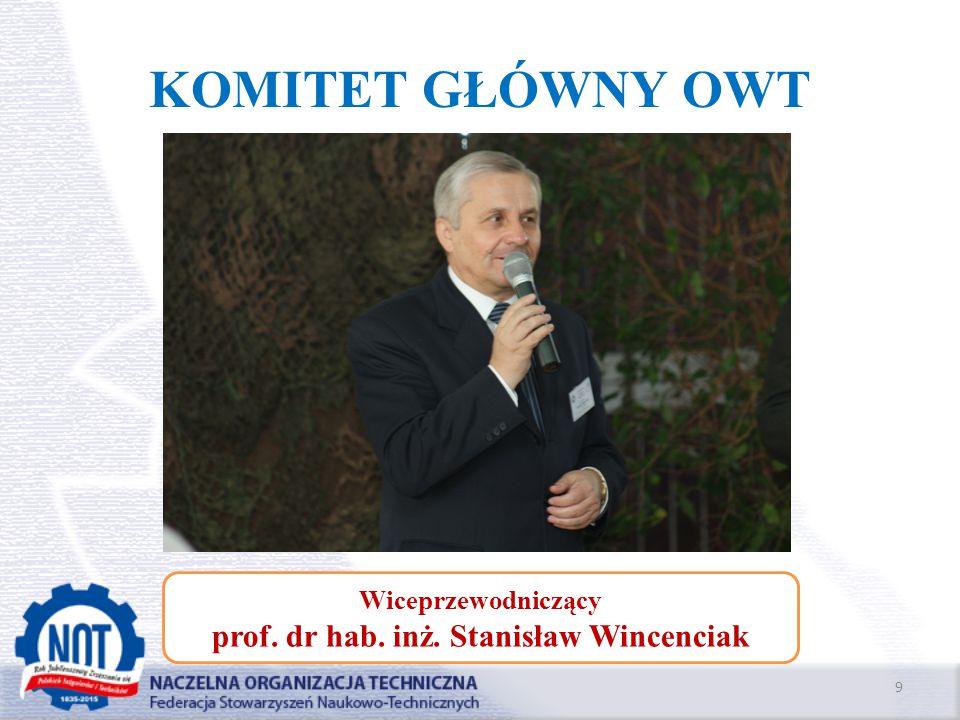 prof. dr hab. inż. Stanisław Wincenciak