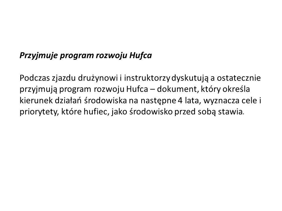 Przyjmuje program rozwoju Hufca