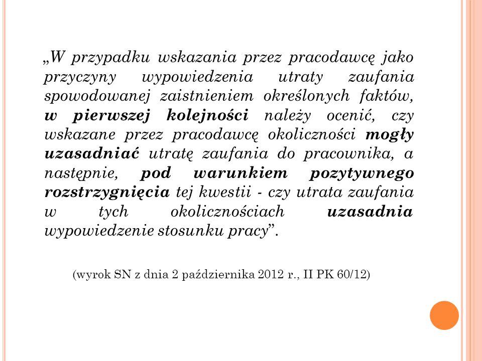 (wyrok SN z dnia 2 października 2012 r., II PK 60/12)