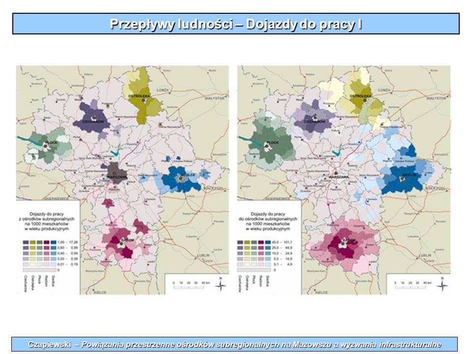 Przepływy ludności – Dojazdy do pracy I