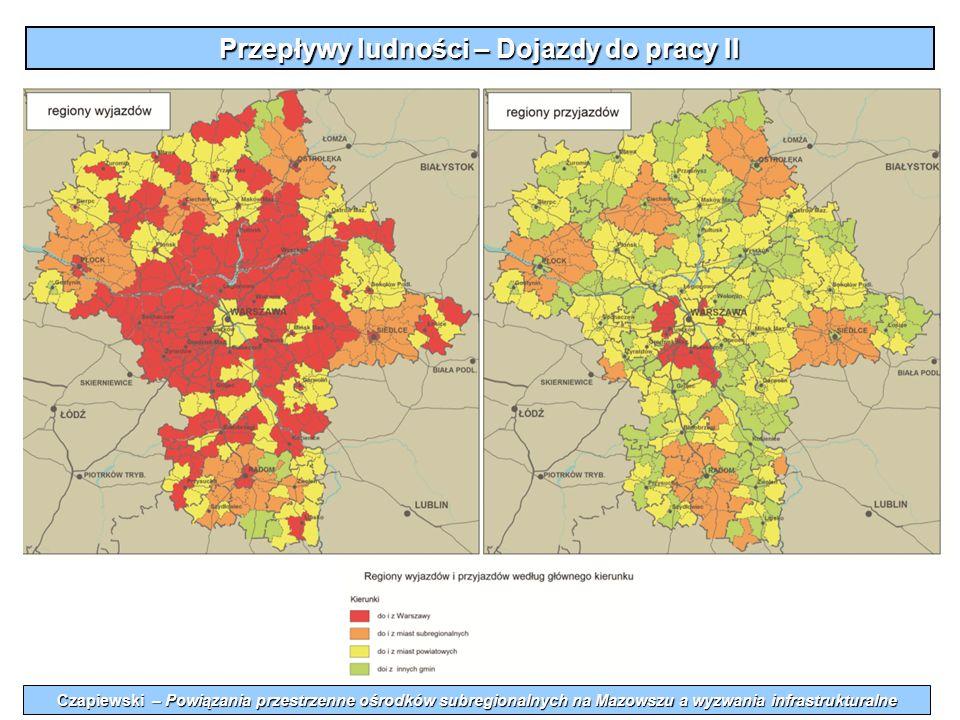 Przepływy ludności – Dojazdy do pracy II