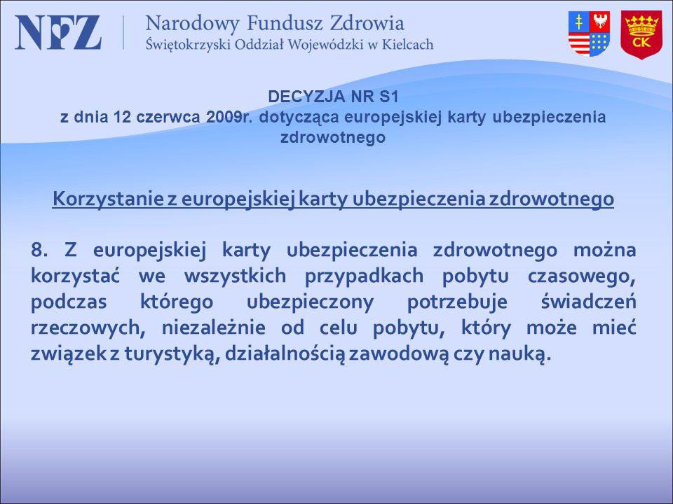 Korzystanie z europejskiej karty ubezpieczenia zdrowotnego