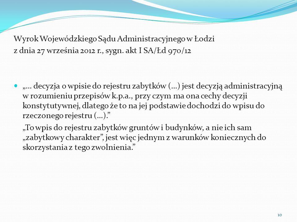 Wyrok Wojewódzkiego Sądu Administracyjnego w Łodzi