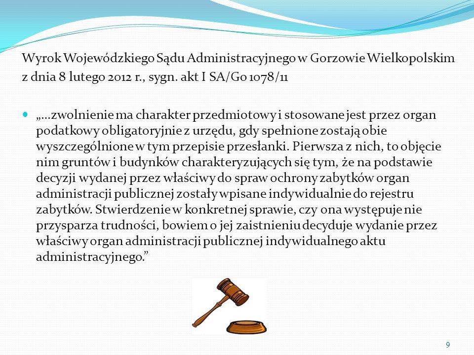 Wyrok Wojewódzkiego Sądu Administracyjnego w Gorzowie Wielkopolskim