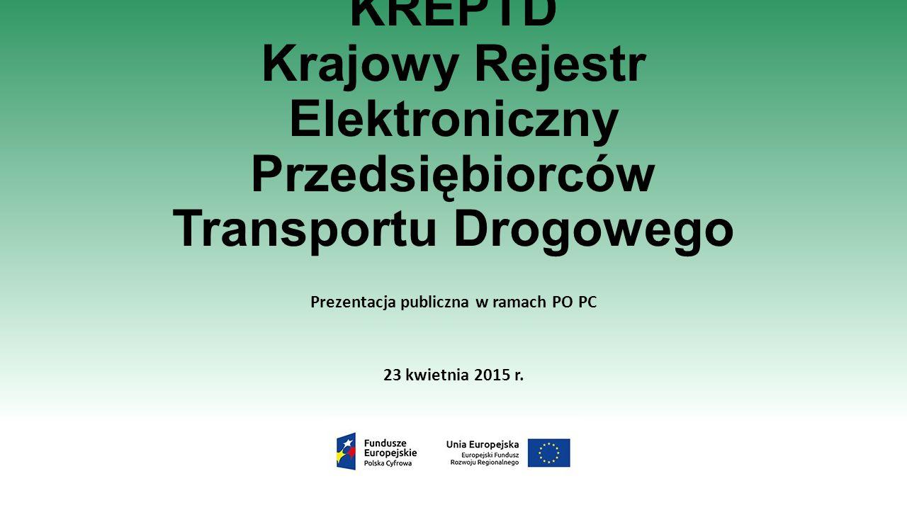 Prezentacja publiczna w ramach PO PC 23 kwietnia 2015 r.
