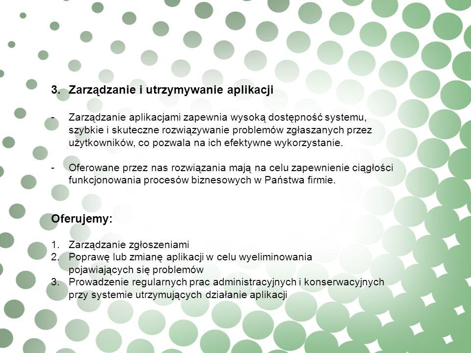3. Zarządzanie i utrzymywanie aplikacji