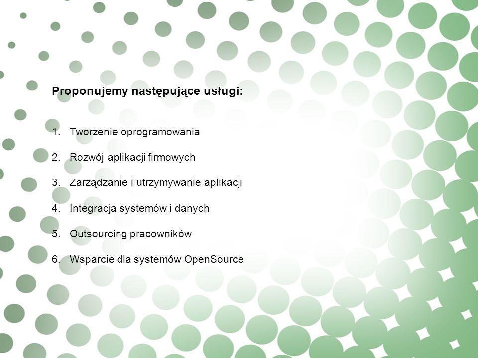 Proponujemy następujące usługi: