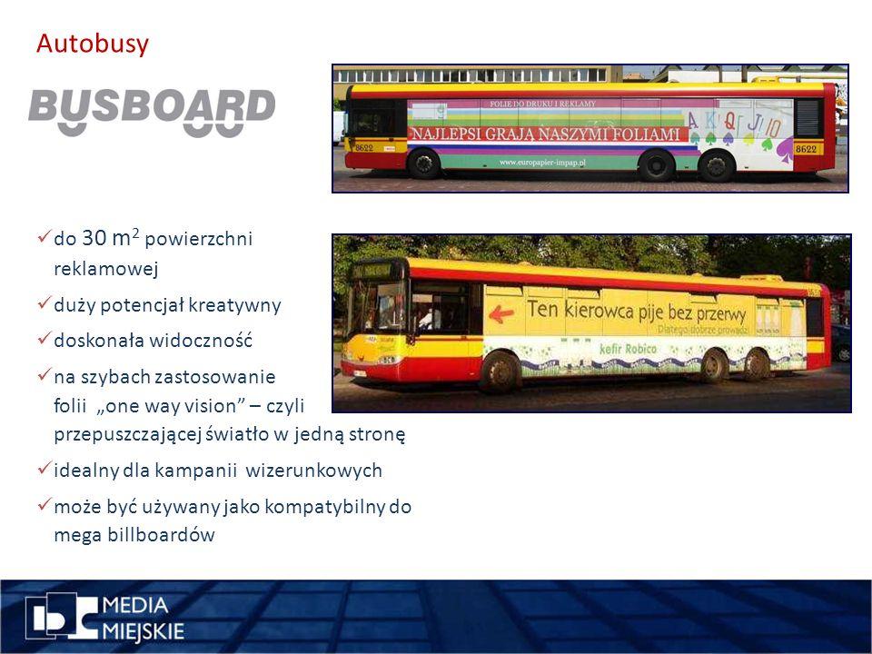pomysł Autobusy wykorzystajdługość do 30 m2 powierzchni reklamowej