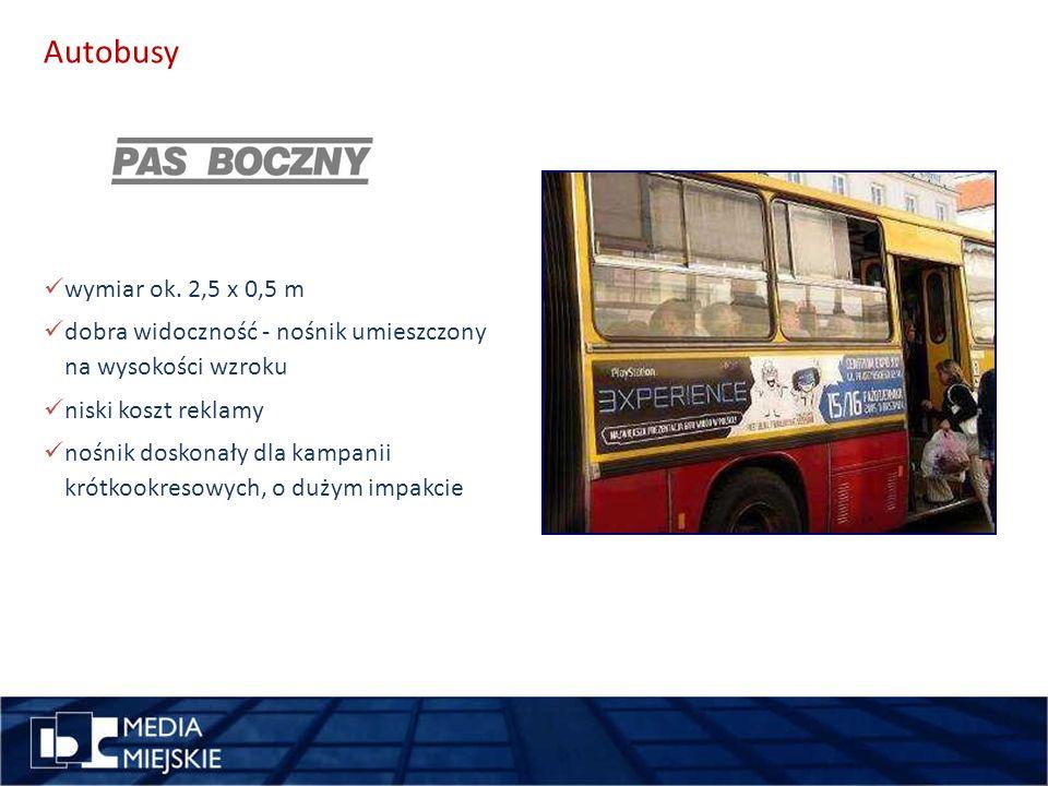 pomysł miejsce Autobusy wymiar ok. 2,5 x 0,5 m