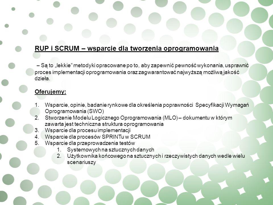 RUP i SCRUM – wsparcie dla tworzenia oprogramowania