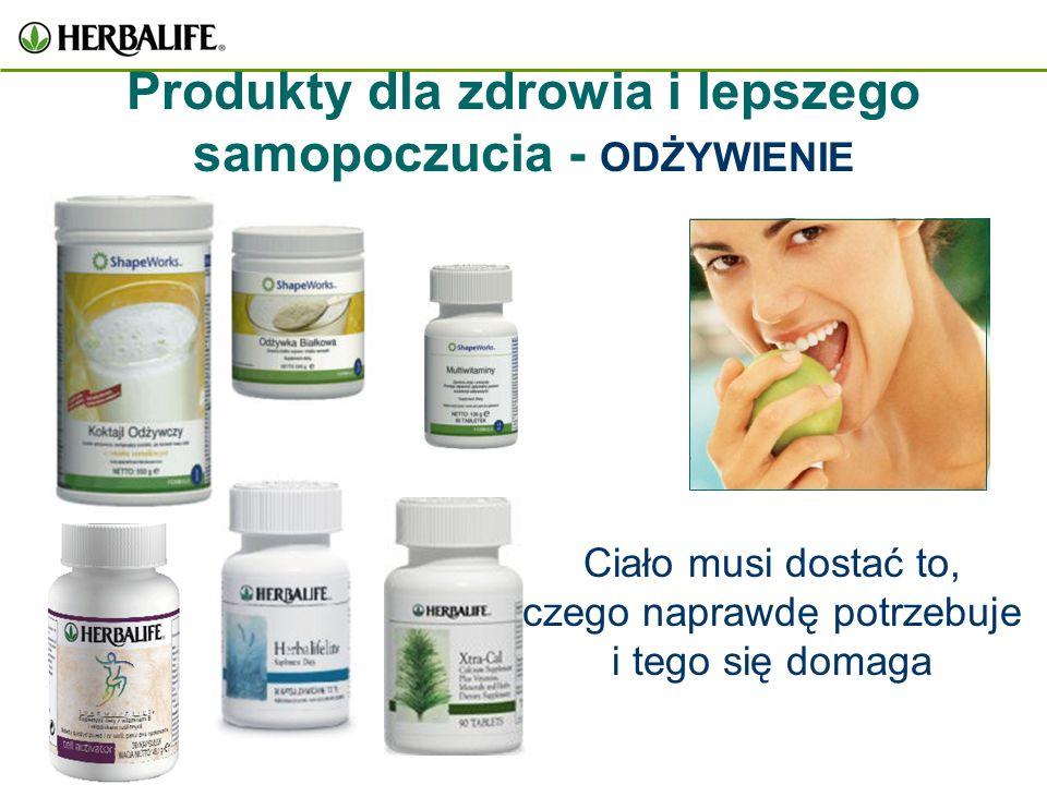 Produkty dla zdrowia i lepszego samopoczucia - ODŻYWIENIE