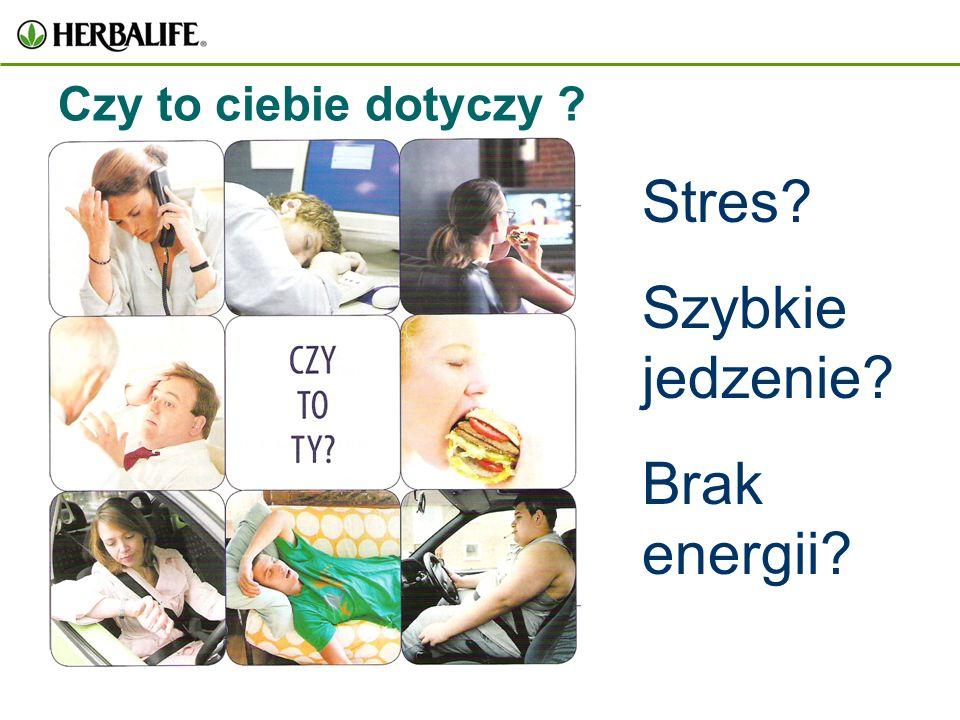 Stres Szybkie jedzenie Brak energii Czy to ciebie dotyczy