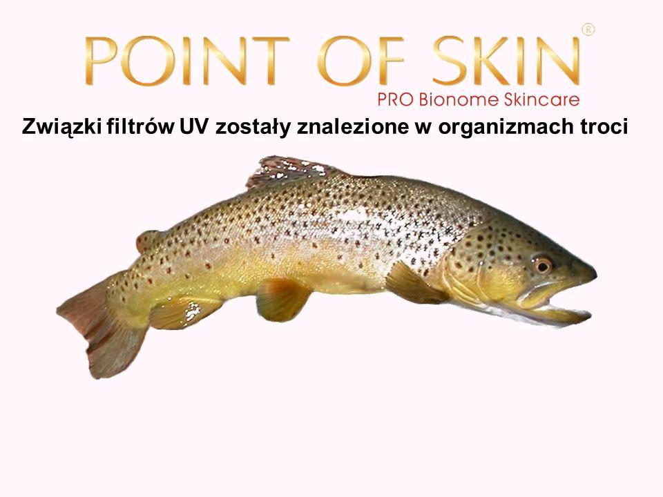 Związki filtrów UV zostały znalezione w organizmach troci