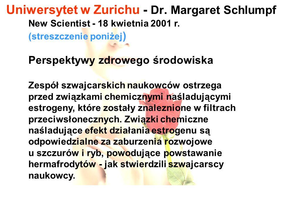 Uniwersytet w Zurichu - Dr. Margaret Schlumpf