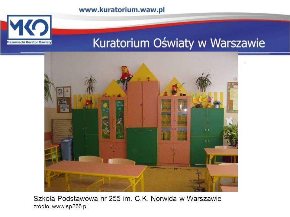 Szkoła Podstawowa nr 255 im. C. K. Norwida w Warszawie źródło: www