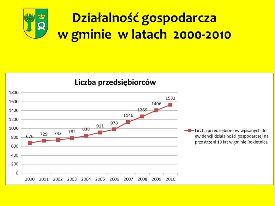 Działalność gospodarcza w gminie w latach 2000-2010