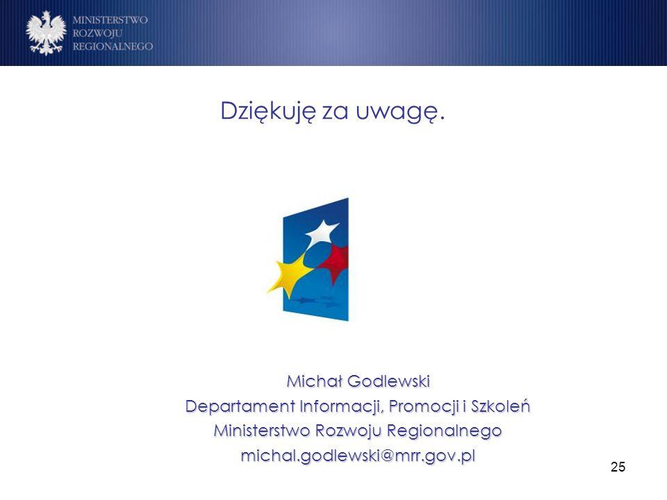 Dziękuję za uwagę. Michał Godlewski