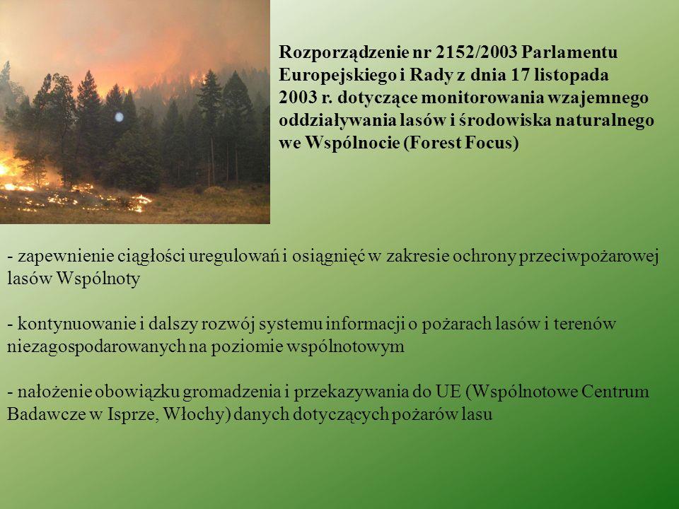 Rozporządzenie nr 2152/2003 Parlamentu