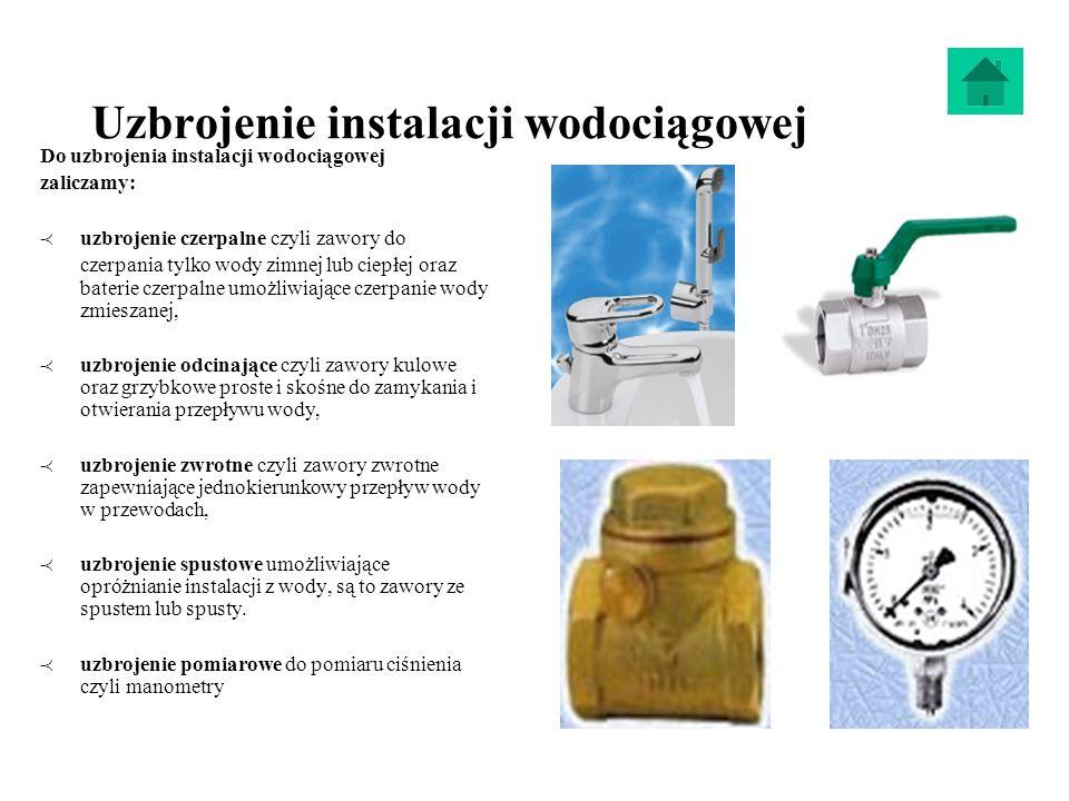Uzbrojenie instalacji wodociągowej